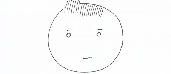 Twarz narysowana przez małe dziecko